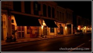 Phuket Old Town at night