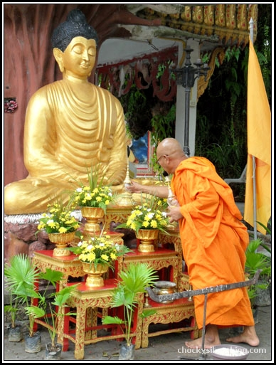 The Buddha and the monk