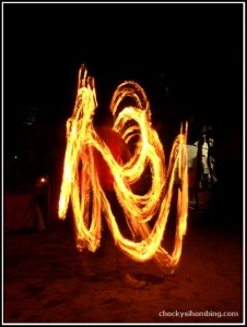 Fire Dancer in Bora-bora Bar, Phi-phi
