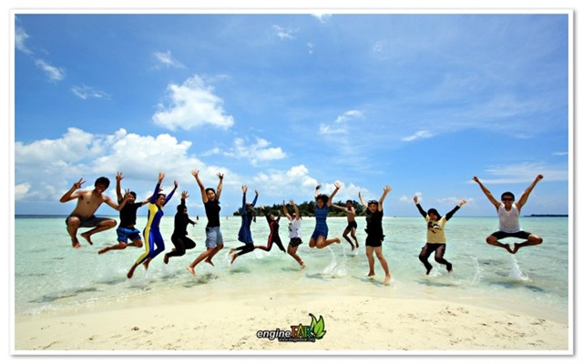 jumping jumping at karimunjawa