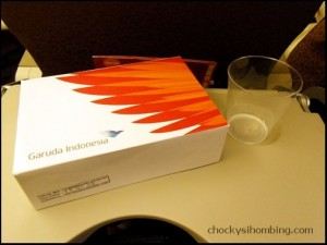Garuda Indonesia in-flight meal