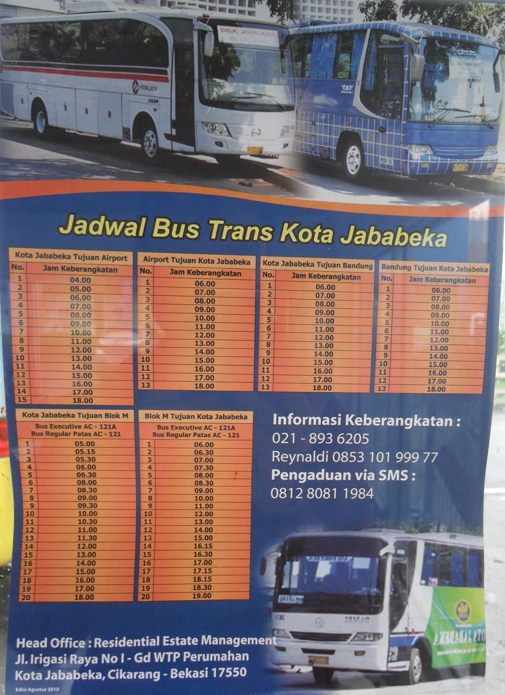 Jadwal Bus Trans Kota Jababeka