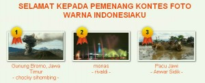 Pemenang Kontes Foto Warna Indonesiaku