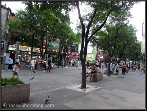 Suasana jalanan di Insadong