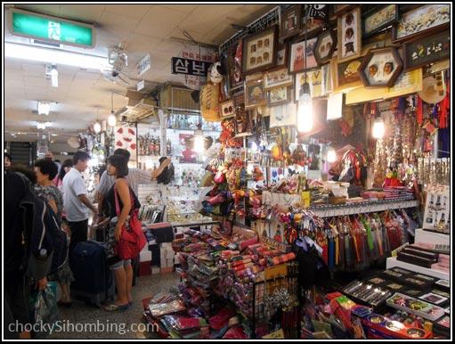 Salah satu sudut kios-kios di Namdaemun