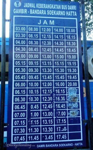 Jadwal Damri Gambir - Bandara