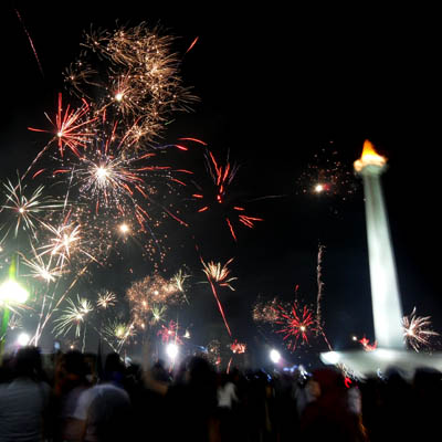 Fireworks in Monas