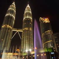 Petronas Fountain Light Show