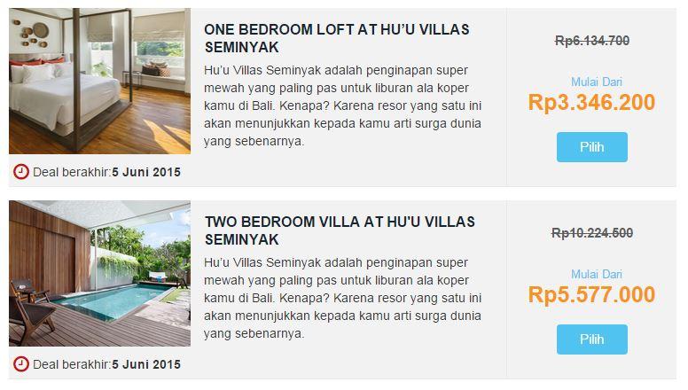 Contoh Hotel Deals di MisterAladin.com