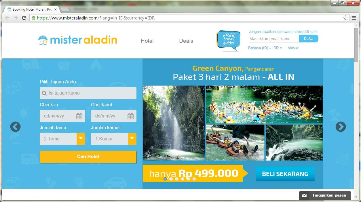 Halaman Utama MisterAladin.com
