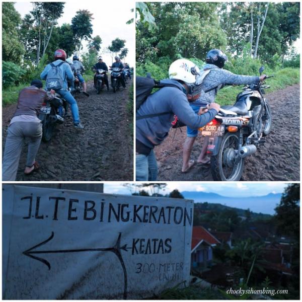 kondisi jalanan dari parkiran menuju Tebing Keraton