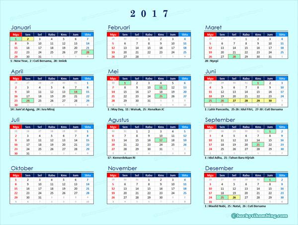 Kalender 2017 Indonesia
