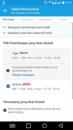 Easy Reschedule di mulai dari sini, ubah penerbangan Singapura–Jakarta tanggal 19 April 2017