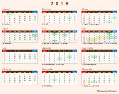 Kalender 2018 Indonesia